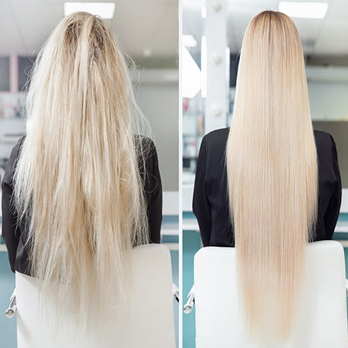 Keratin Smoothing before and after
